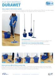flat wet mopping durawet