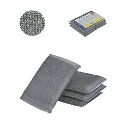 Abrasif Éponge Inox. Pack-6