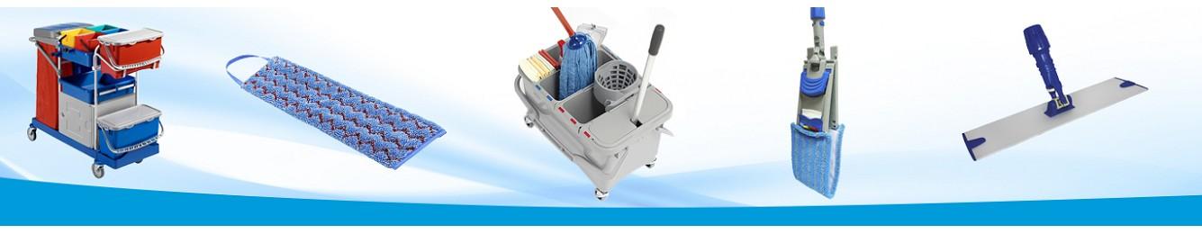 Distribución productos microfibra, limpieza profesional