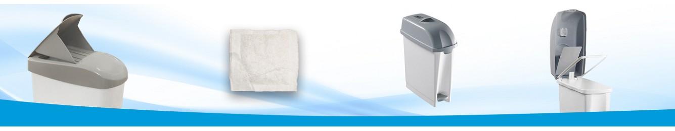 Contenedores higienicos femeninos, sanitarios y pañales