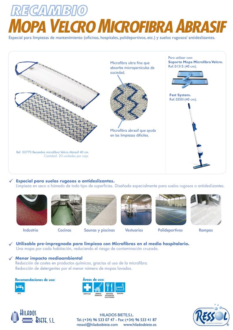 Mopa Velcro Microfibra Abrasif Suelos Rugosos Y Antideslizantes  ~ Como Limpiar Suelo Antideslizante