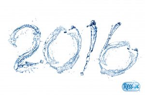 45721051 - happy new year 2016 by pure splash of water isolated on white background