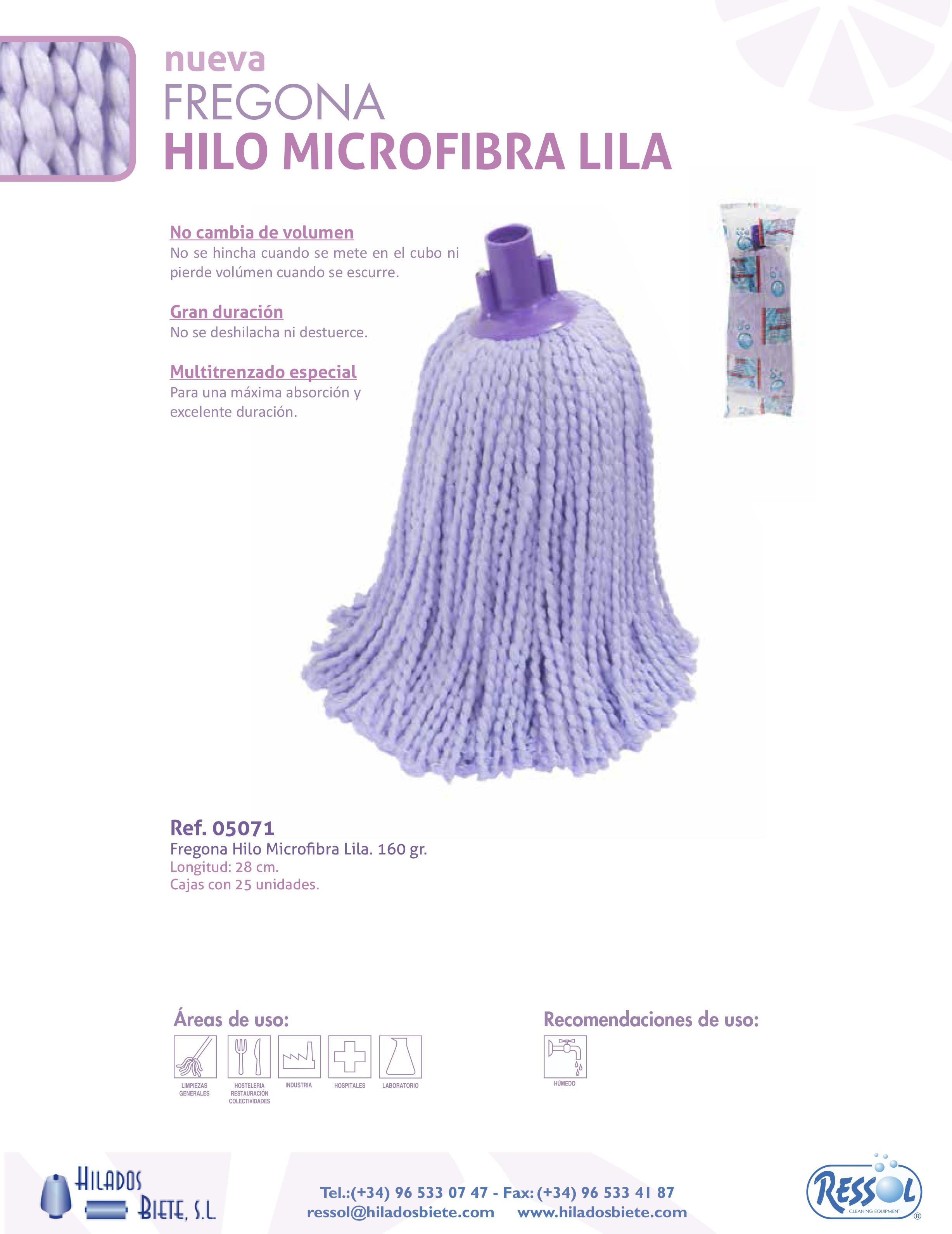 Fregona Microfibra Hilo Lila