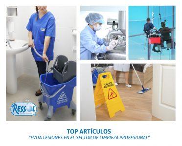 articulos que evitan lesiones en el sector limpieza profesional