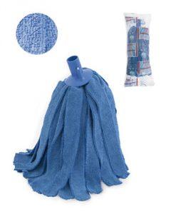 fregona de microfibra azul