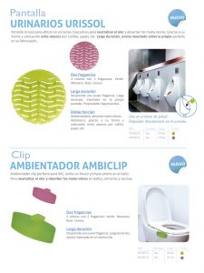 pantallas urinarios y clip ambiclip WC