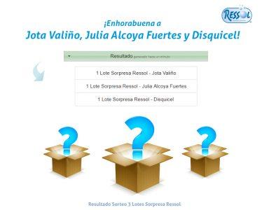 resultado sorteo 3 lotes sorpresa Ressol