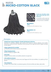 Fregona micro cotton black RESSOL