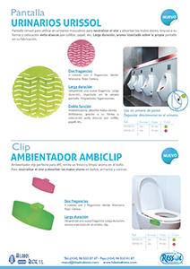 Pantalla Urinarios Urissol y Ambientador clip RESSOL