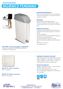 Contenedor higiénico For Lady RESSOL