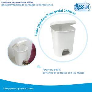 contenedores de residuos con tapa