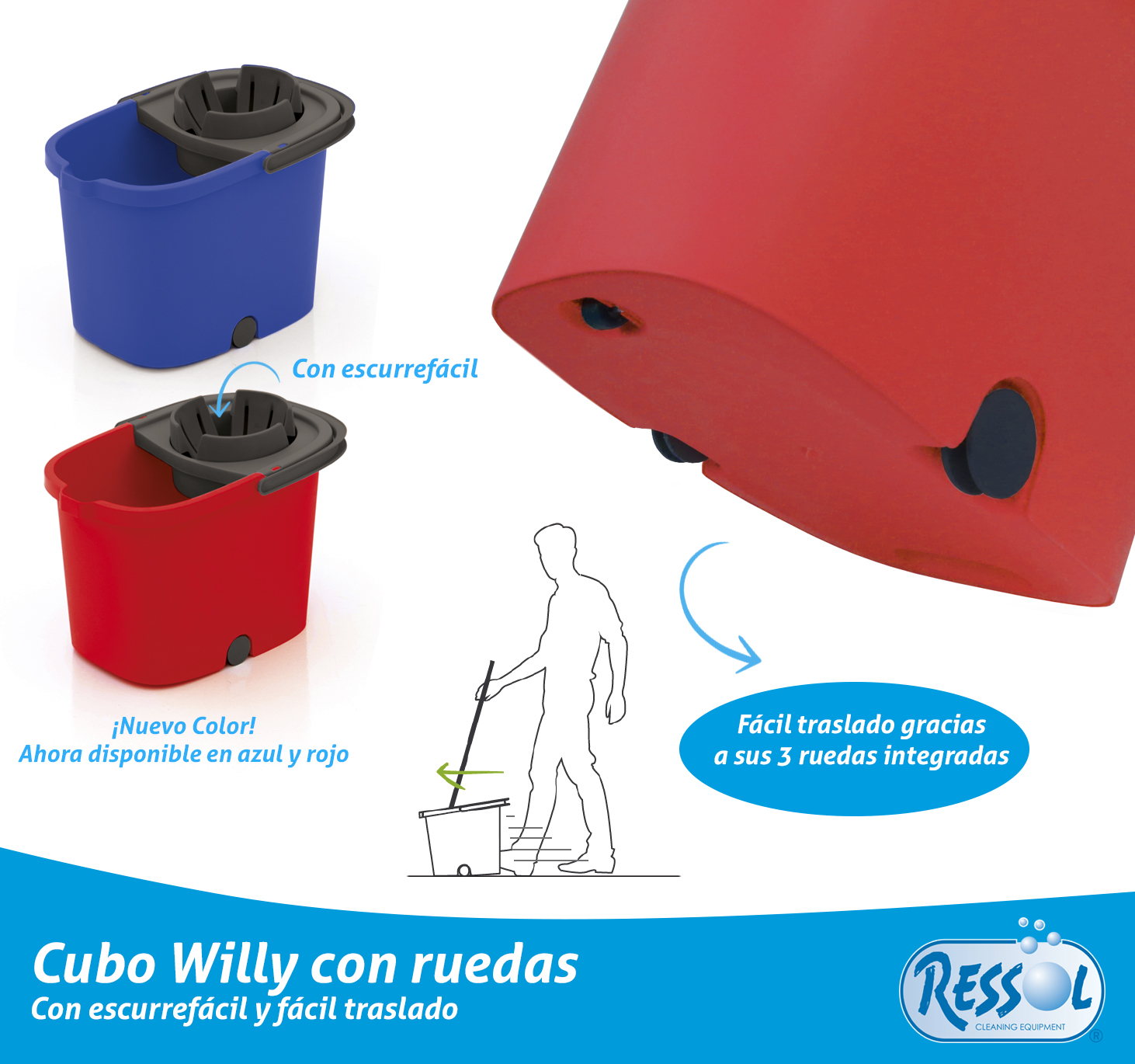 Cubo Willy Ruedas Ressol